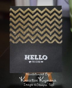 Hello Friend Stenciled Card