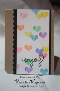 Stenciled Enjoy card