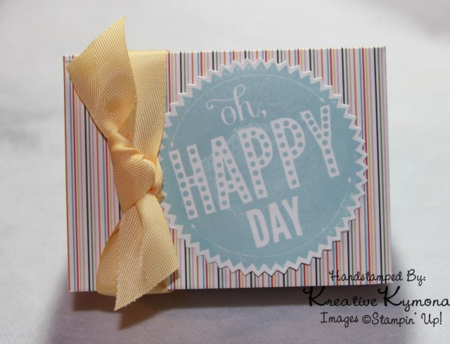 Oh Happy Day Box Striped