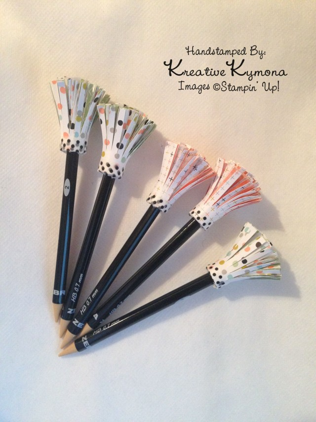 Pencils with Paper Toppers