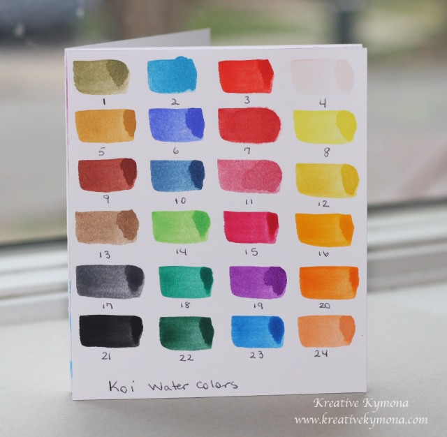Koi Watercolor Swatches