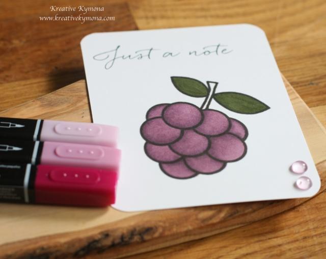 Grapes colored