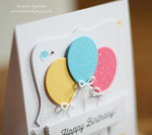 Happy Birthday Balloons close up