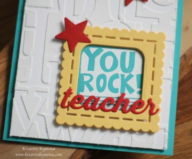 You Rock Teacher die front