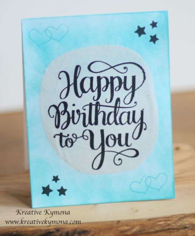 Happy Birthday on Tissue Paper