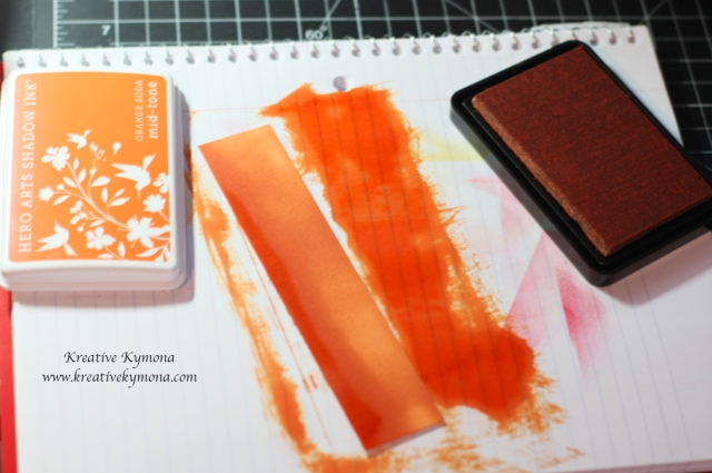 color cardstock with ink