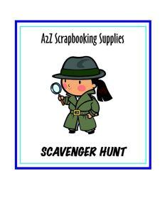 a2z Scrapbooking Scavenger Hunt