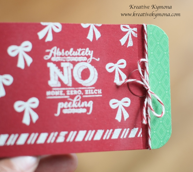 Gift card tag close up