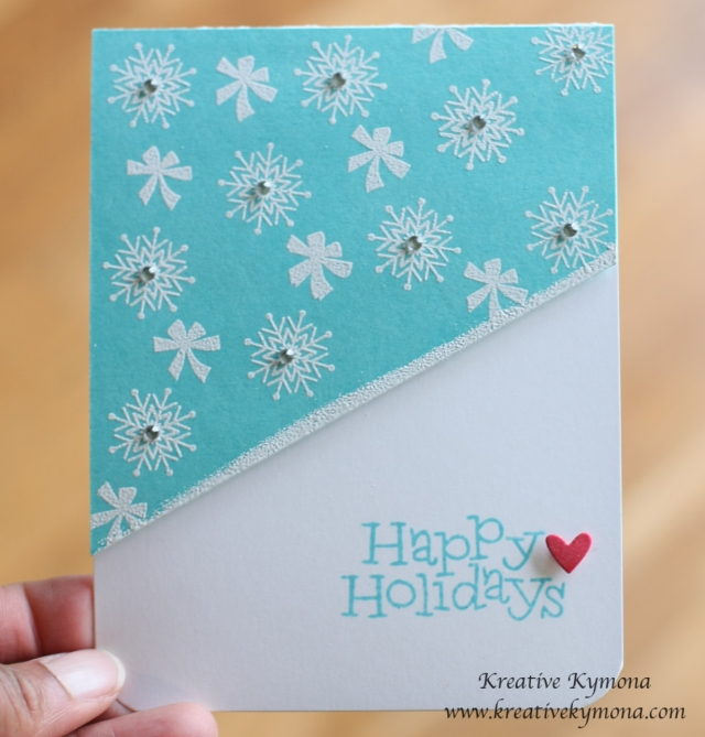 Happy Holidays White Stamping