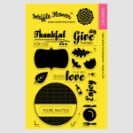 Holiday Labels Give Thanks Stamp Set