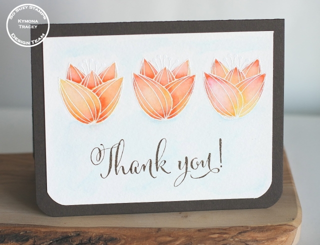 Watercoloring Thank you front
