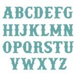 TDD Vintage Alphabet Die
