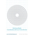 Stitching Marks Circle Die