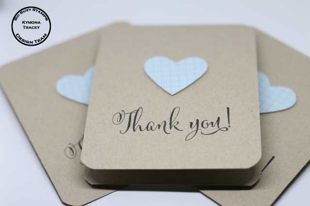 Thank you cards close up