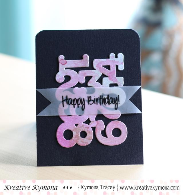 Numbers Birthday (CAS)