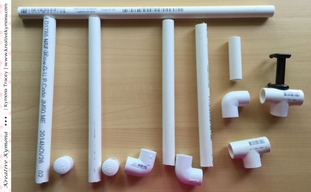 PVC pipes pieces