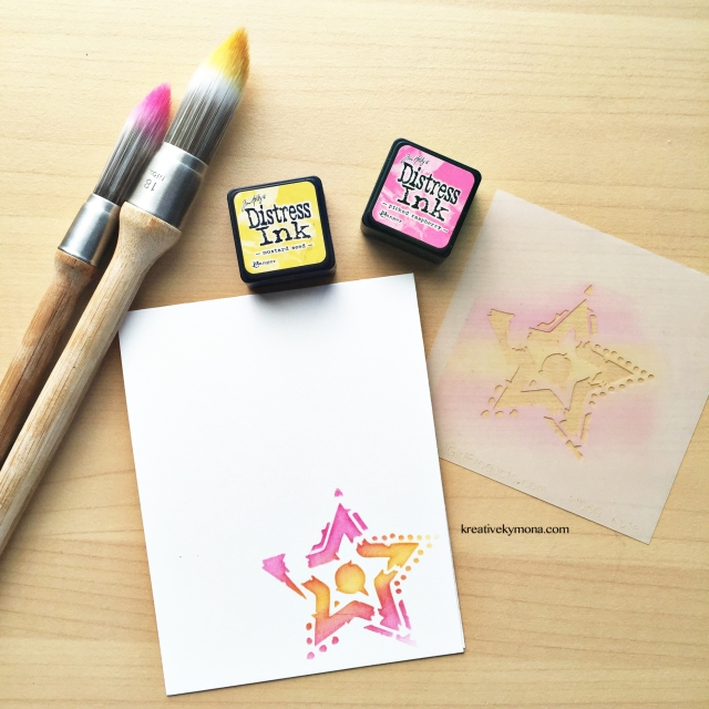 Stenciling with Clarity Brushes
