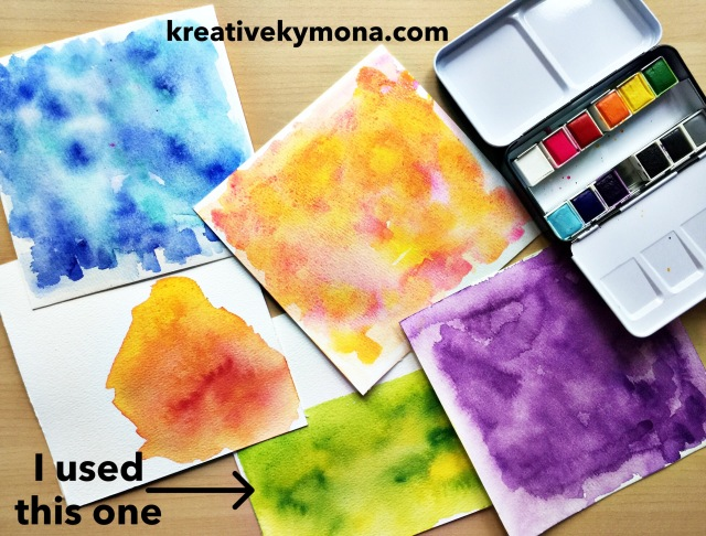 watercolor panel
