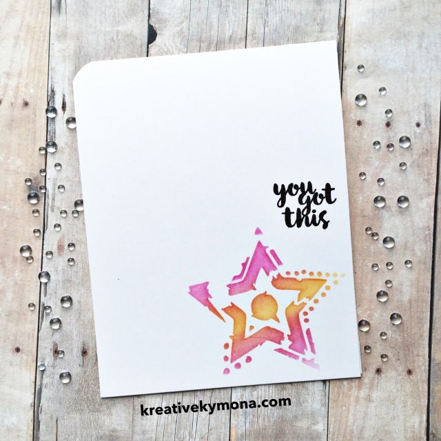 Stenciling with distress inks
