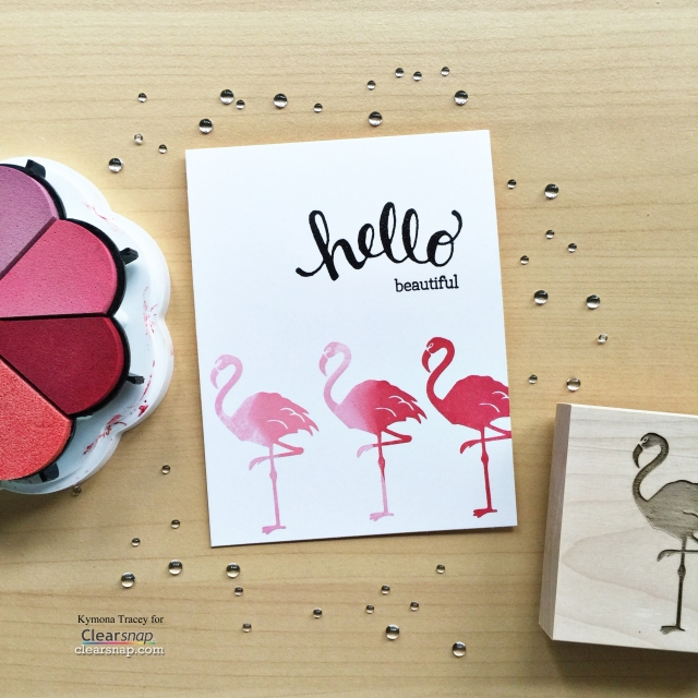 finished card with props