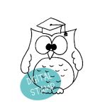Graduation Owl Digital Stamp