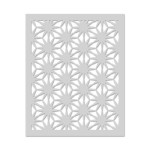 HA Asian Flower Pattern Stencil