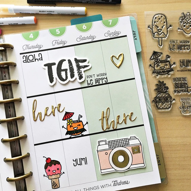 clearly planned super sweet stamp set