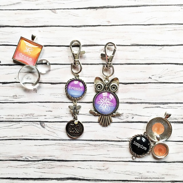 watercolor charms for a traveler's notebook