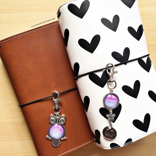 watercolor charms for traveler's notebook