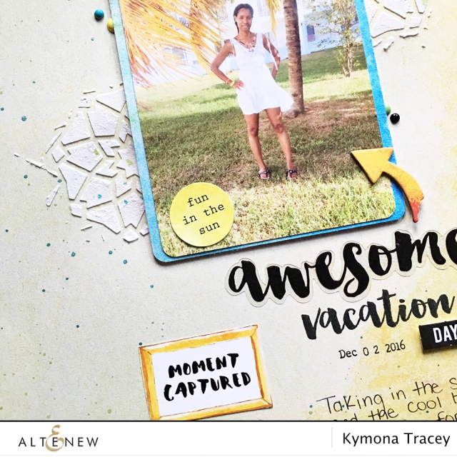 layered scrapbook page using Altenew Reflection Scrapbook kit