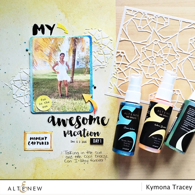 Altenew scrapbook layout
