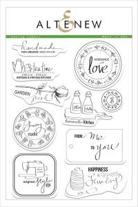 sewing labels stamp set