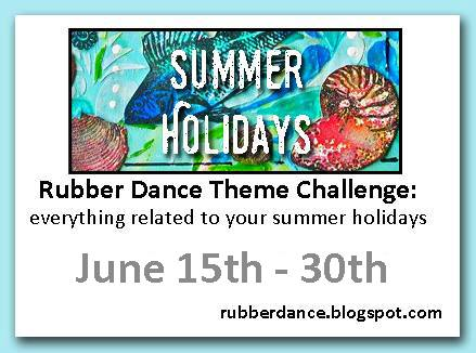 rubber dance stamp theme challenge