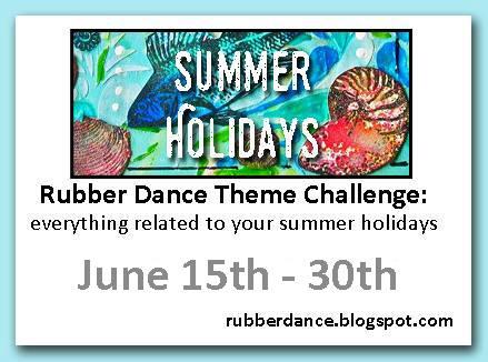 rubber dance stamp theme challenge