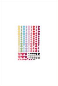 New day card kit enamel dots