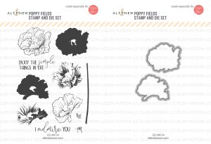 Poppy Field Stamp and Die Set