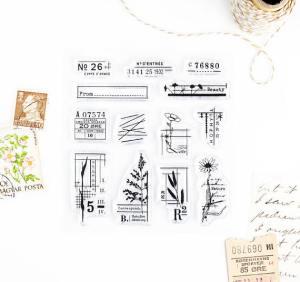Vintage Floral Details Clear Stamp