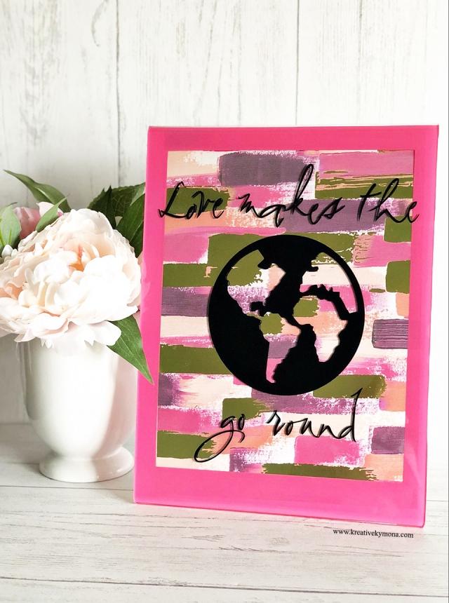 Deflecto Pink Border Frame