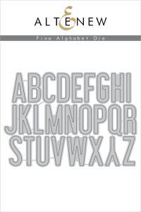 Altenew Fine Alphabet Die