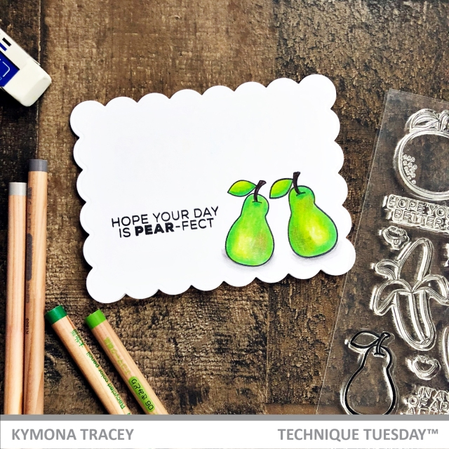 Funny Fruits stamp set