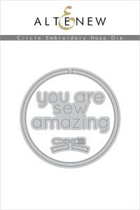 Altenew circle embroidery hoop die