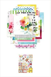 Sticker and paper bundle
