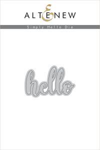 Altenew Simply Hello Die