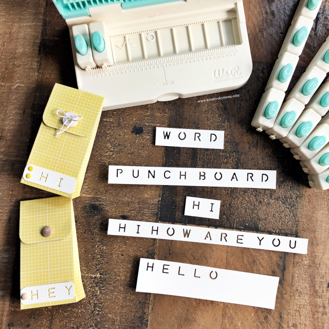 Word Punch Board
