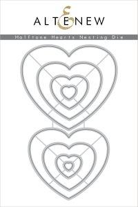 Halftone Hearts Nesting Dies