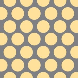 Adornit Vintage Polka Dot Yellow