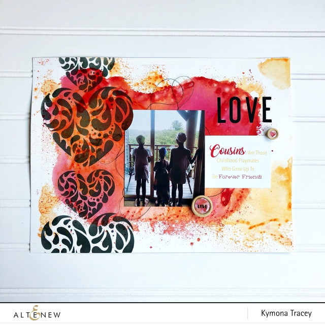 Flowing Hearts Stencil