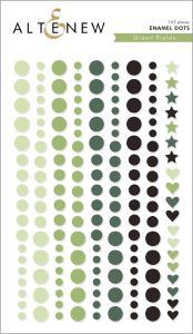 enamel dots green fields