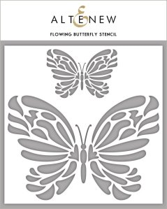 Flowing Butterfly Stencil