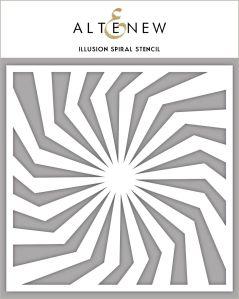Illusion Spiral Stencil